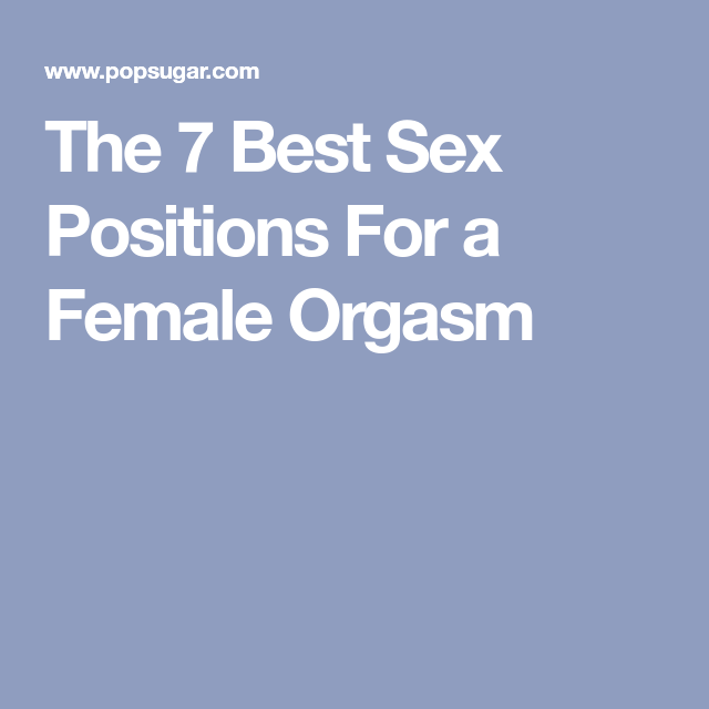 sex positions for women orgasm