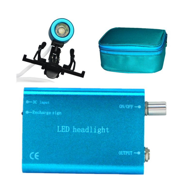 Portable Blue Head Light Lamp For Dental Surgical Medical Binocular Loupe  #Affiliate