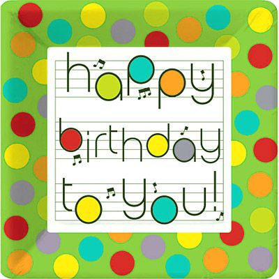 notes-happy-birthday-plates.jpg | Music Party | Pinterest | Music ...
