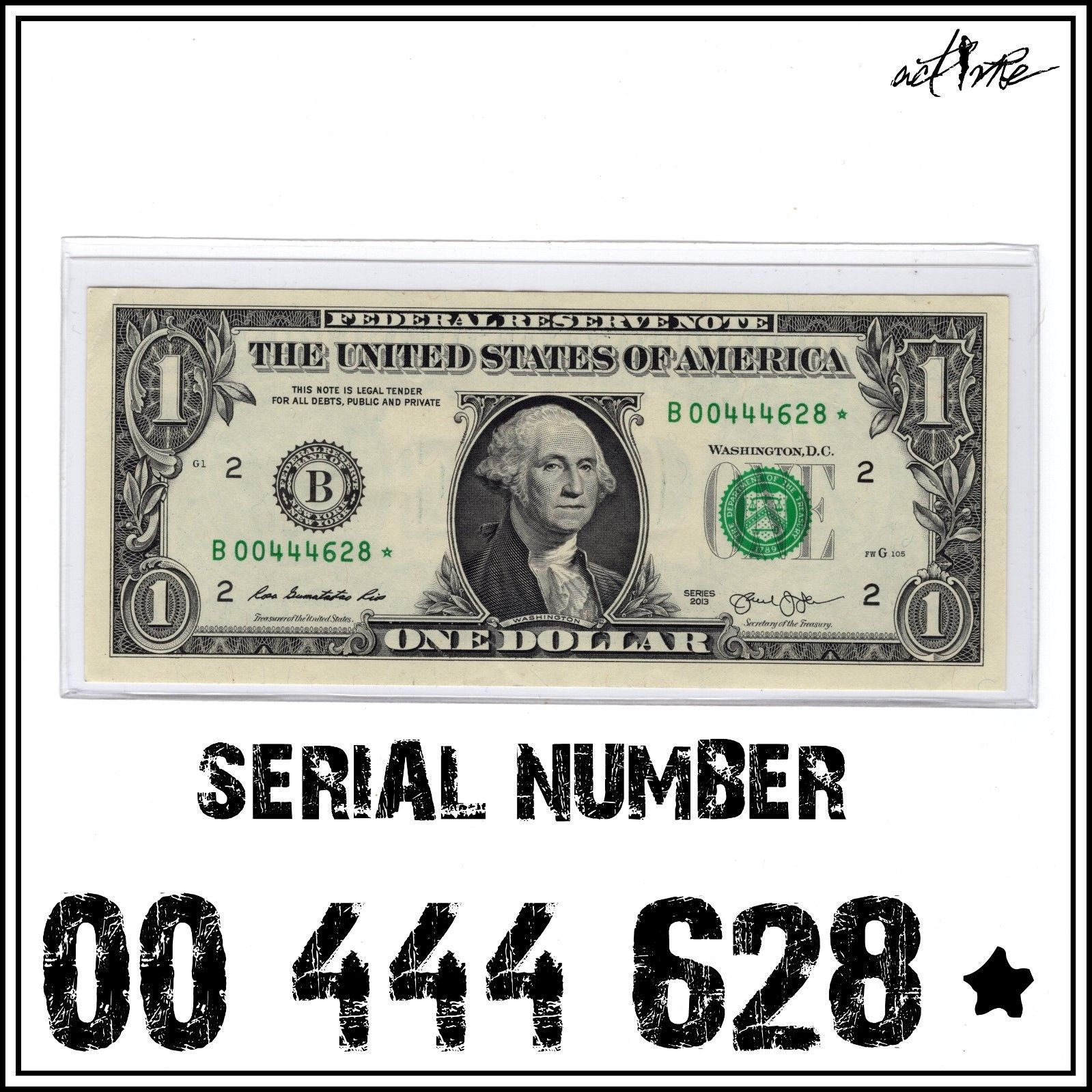 2 dollar bill serial number with star