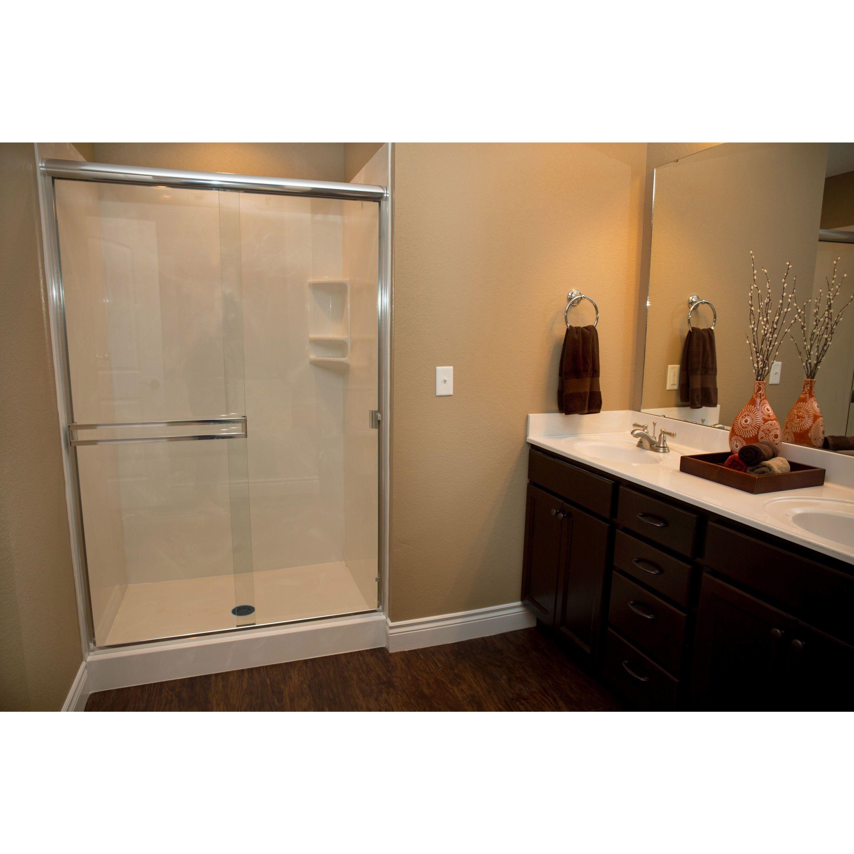 White River Bath USA Made Taneycomo 55-58 inch x 67 3/8 inch Shower ...