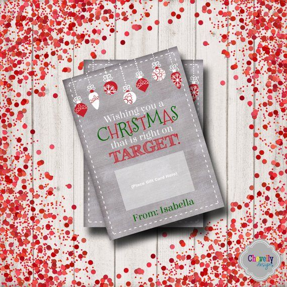 Target Gift Card Holder Christmas Xmas006 Printable
