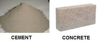Cement Vs Concrete Difference Between Cement And Concrete