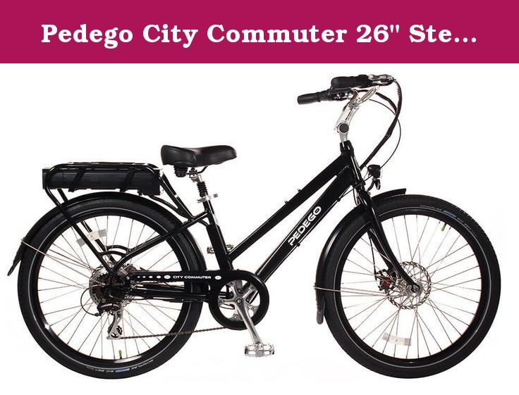 Pedego City Commuter 26 Step Thru Black With Black Balloon