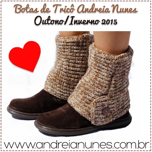 5a45e5d83 A nova opção de cor das botas de tricô Andreia Nunes, a Choco Milk ...