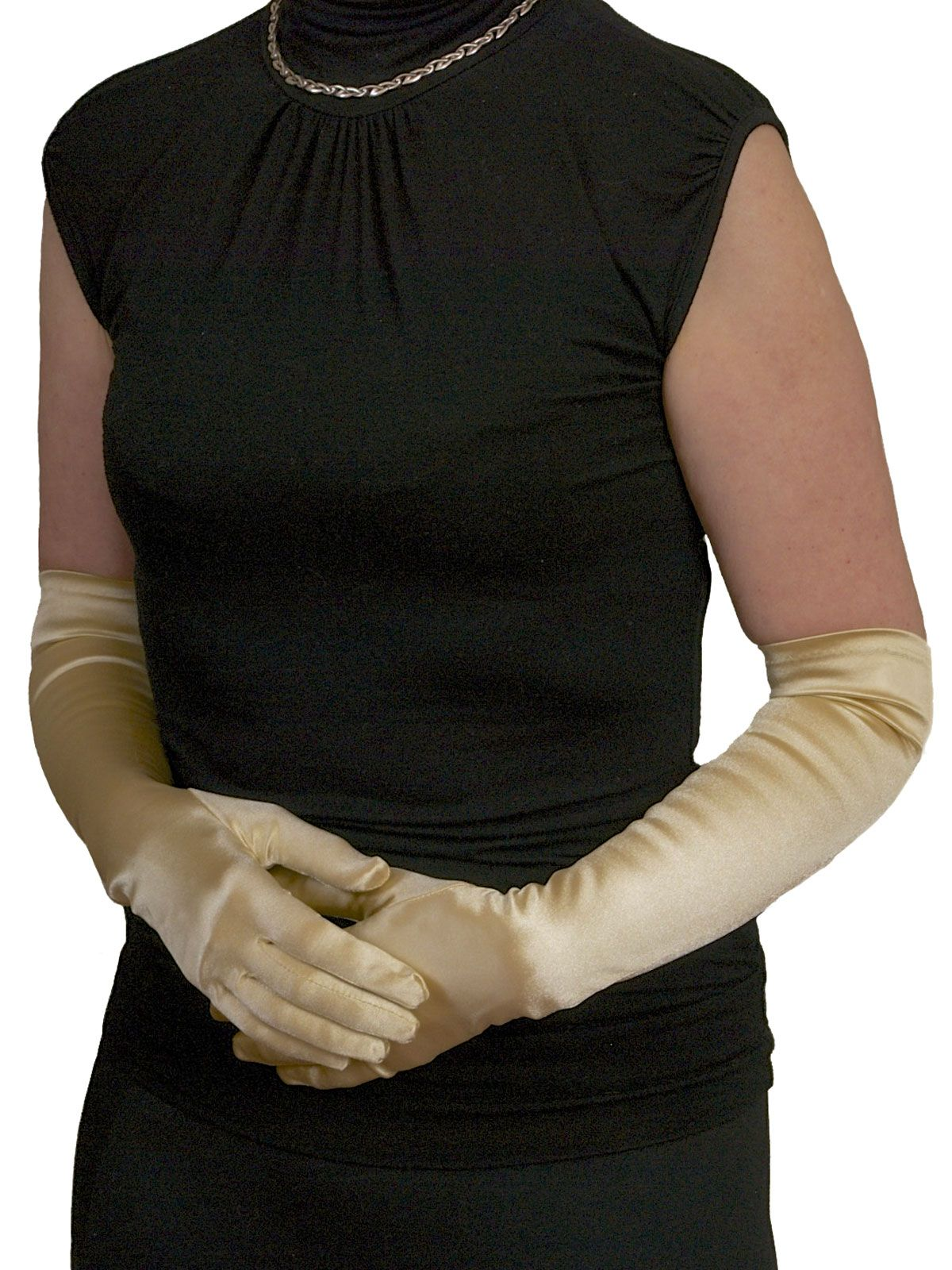 Black gloves evening wear - Dents Long Satin Gloves 3 4 Elbow Length Classic Dress Evening Gloves