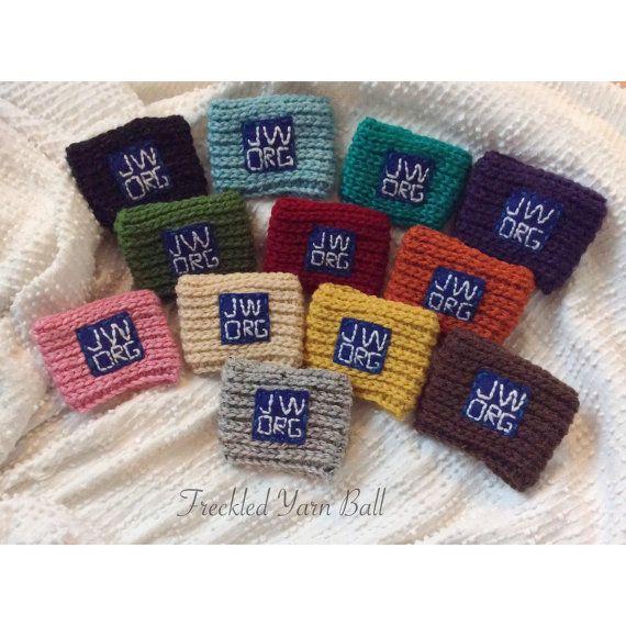 Wedding Witness Gifts: Jehovahs Witness JW.ORG Crochet Coffee Cozy By