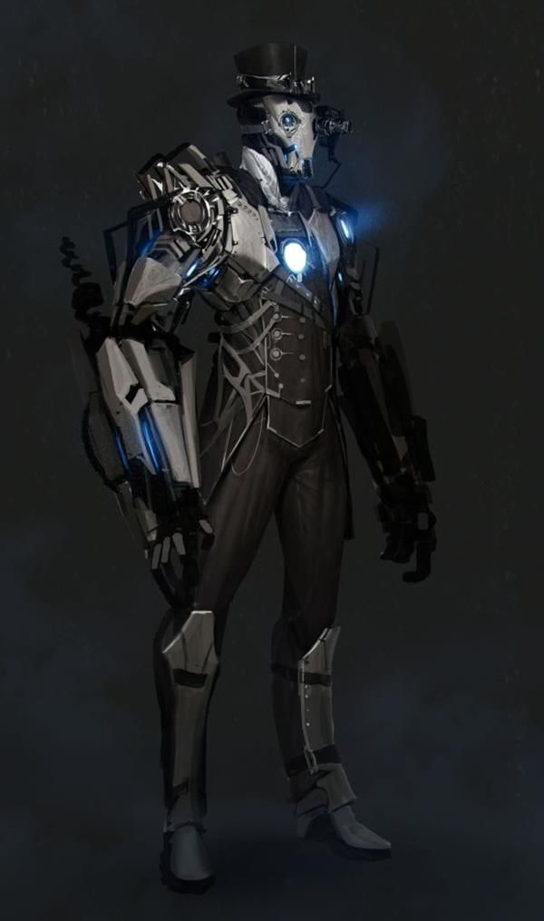Character Design Backstory : Steampunk iron man art includes a bittersweet backstory