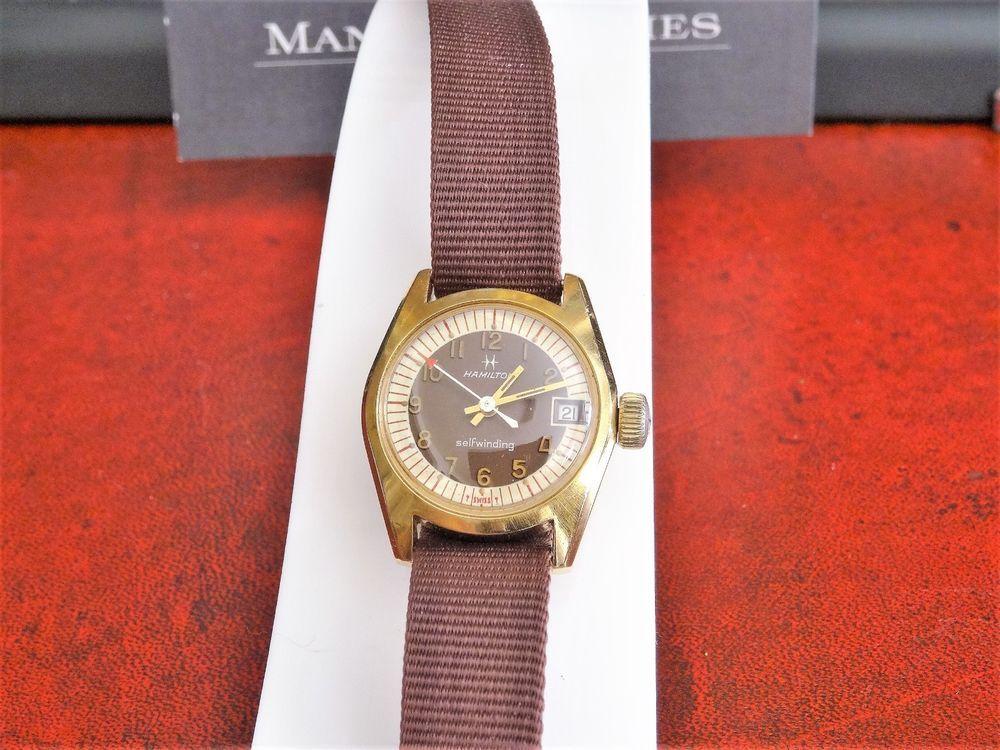 fe1f8b724 Vintage Hamilton 14K Gold Electroplate Bezel Swiss Ladies Watch w/ 11mm  Band! #Hamilton #DressFormal