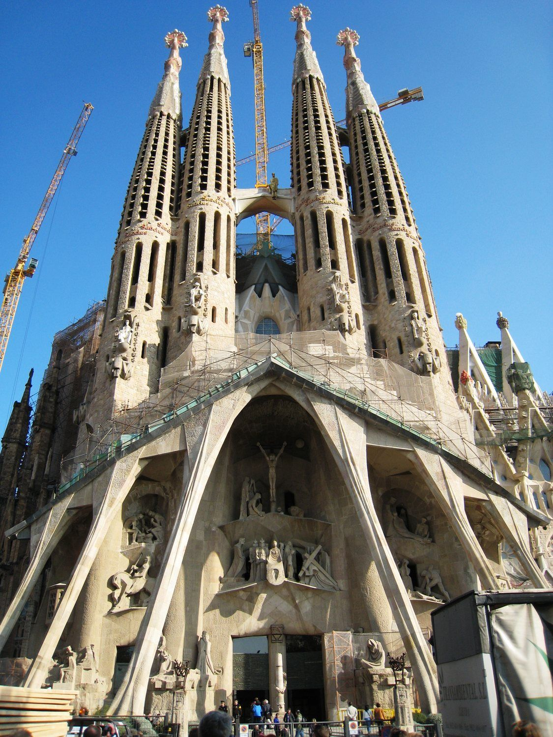 One Of Spains Most Famous Landmarks The Sagrada Familia Cathedral In Barcelona Catalonia Designed By Antoni Gaudi Construction Began 1882 And Is
