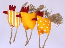 Photo of 3 excited chickens chicken hens