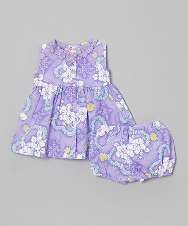Another great find on #zulily! Purple & White Floral Dress - Infant & Girls by RJC Girls #zulilyfinds