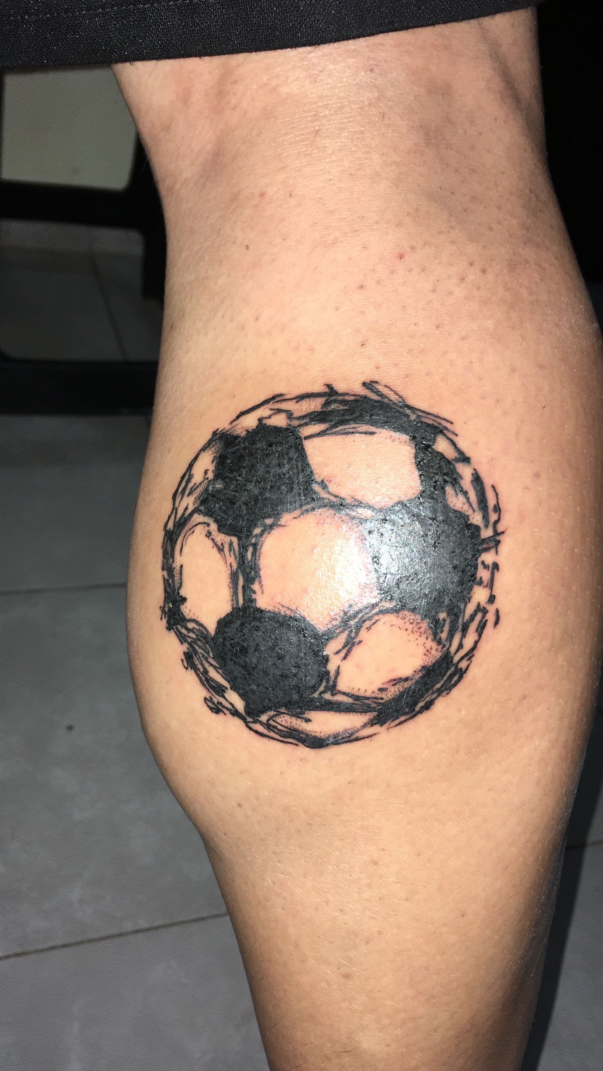 Tatoo Pelota Fútbol Yo Football Tattoo Soccer Tattoos Y Soccer