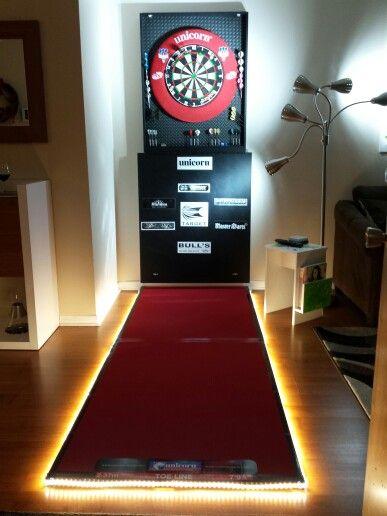 Mon Nouveau Setup Game Room Basement Home Pub Dart Board Wall