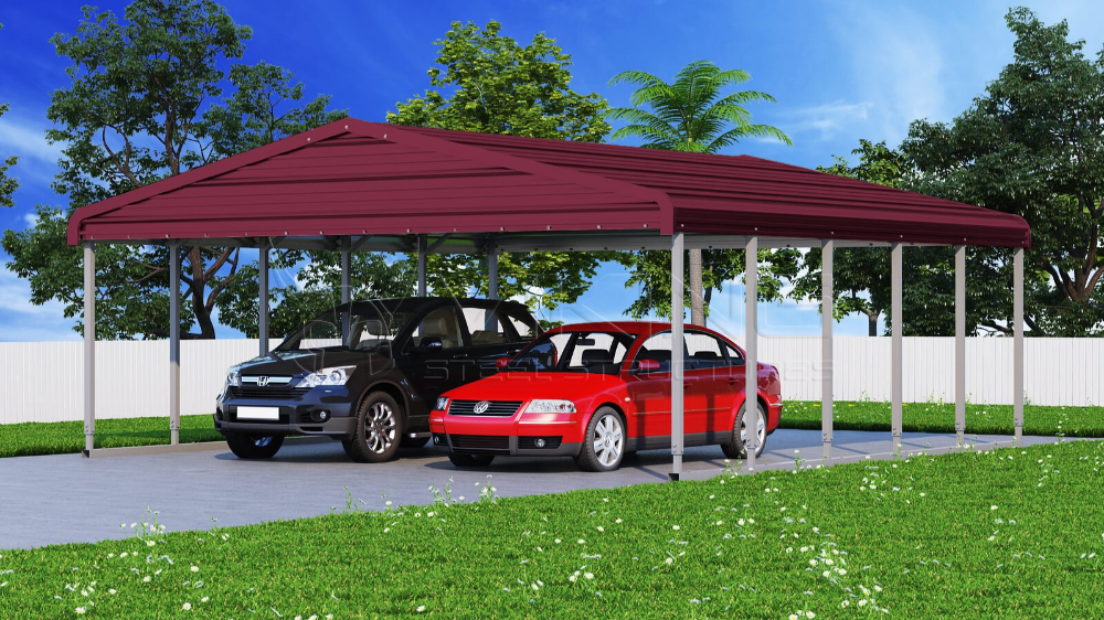 Metal Carport 24x26 Wide Steel Carport Steel carports