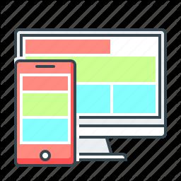 Adaptive Design Devices Responsive Web Web Design Icon In Web Design Icon Icon Design Icon Company