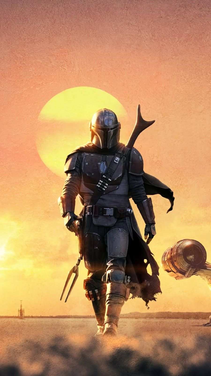 Tv Show The Mandalorian Mobile Wallpaper Star Wars Images Star Wars Background Star Wars Wallpaper