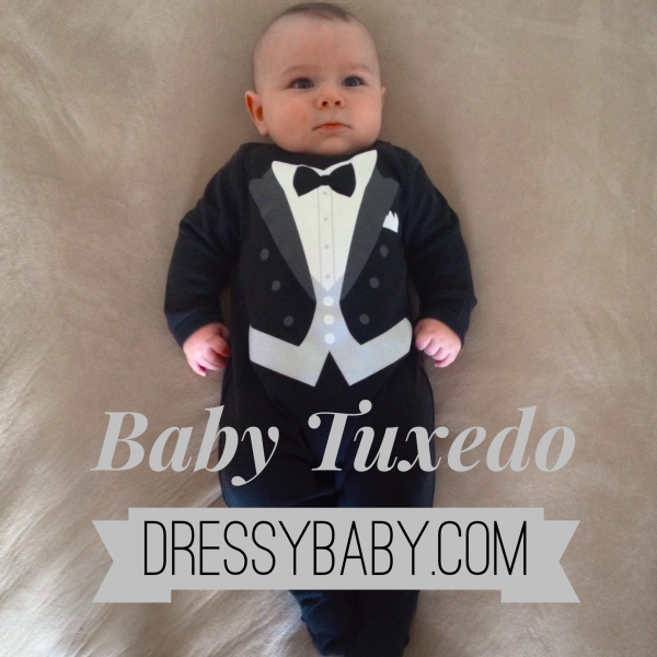 03e84d4d9 Baby boy tuxedo outfit footsie ready to make a statement at wedding ...