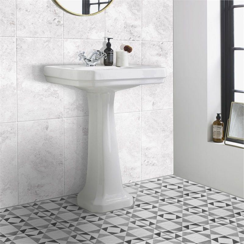 Dura Tile Century Grey Floor Tiles 331 X 331mm 9 Pack Bathroom