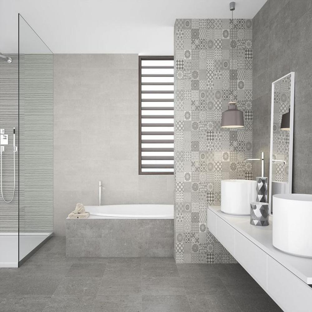 Tile Haven Metropoli Grey Isole 20x50 Grey Wall Tiles Grey Kitchen Tiles Gorgeous Bathroom