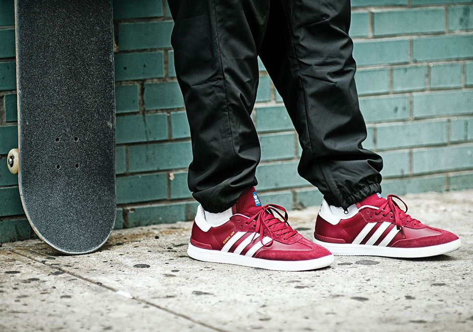 new concept 53ded 54238  sneakers  news The Skate-ready adidas ADV Samba Is Releasing In Burgundy