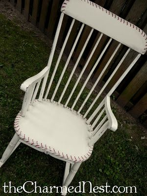 Baseball Inspired Rocking Chair | The Charmed Nest