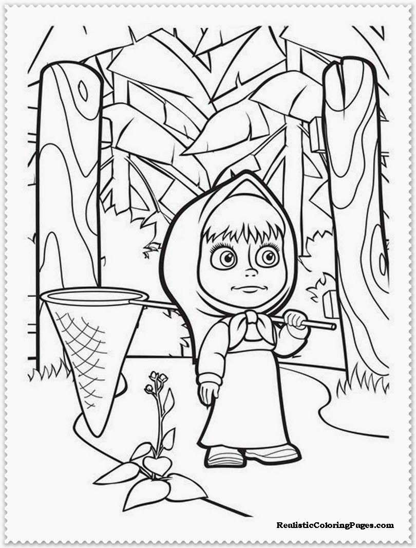Masha And The Bear Coloring Pages | COLORING PRESCHOOL | Pinterest