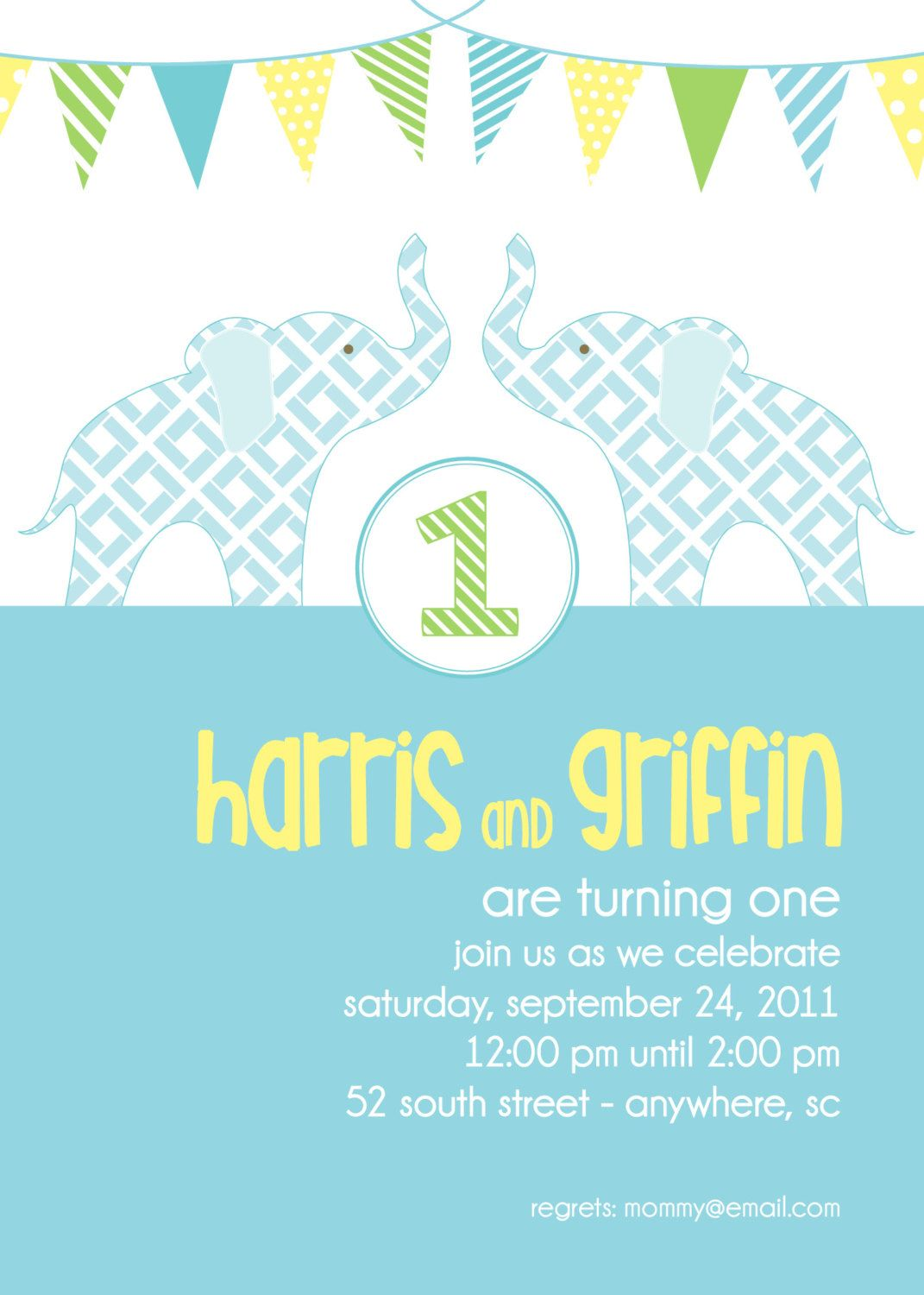 cute bday party invite found on etsy and it's local!