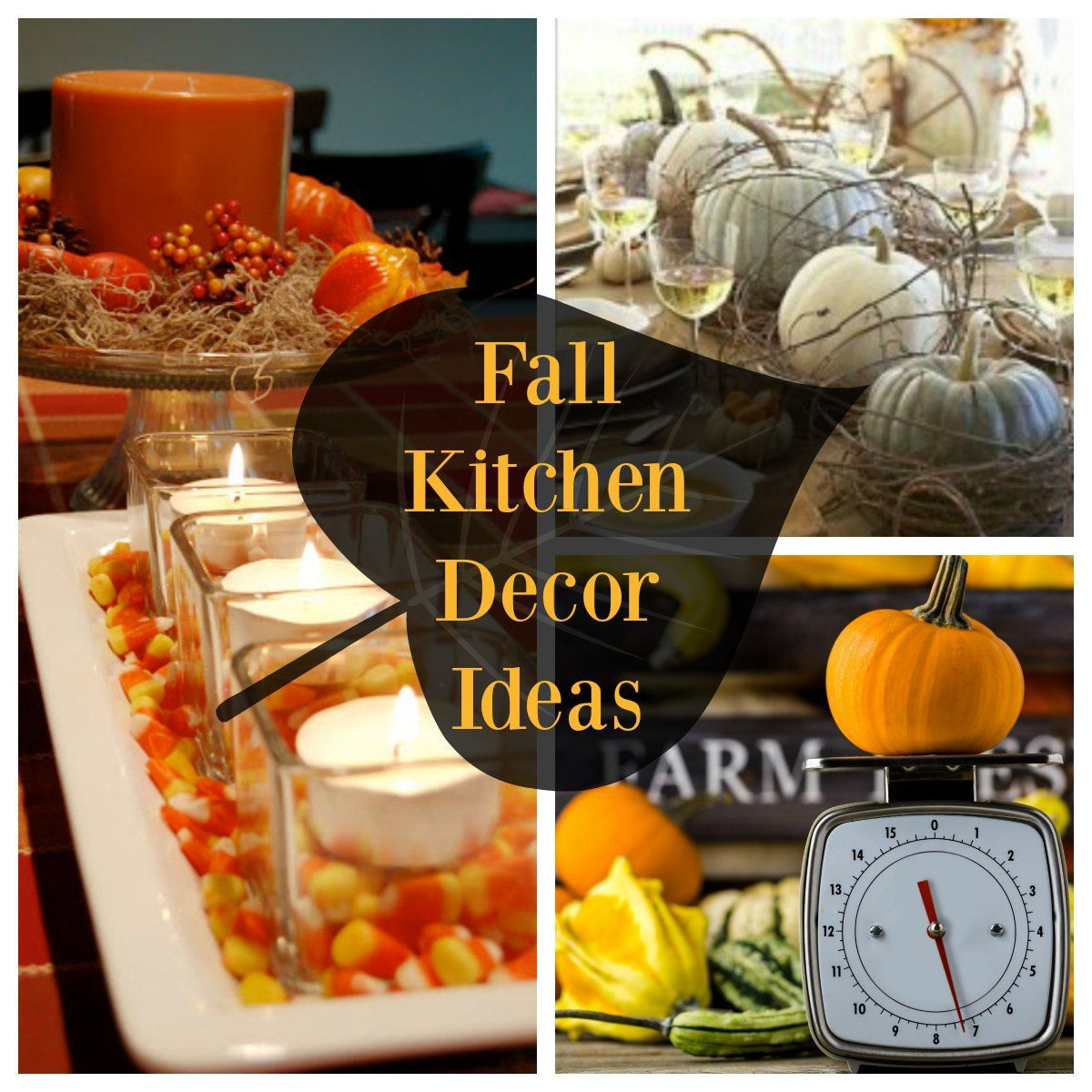 Fall Kitchen Decorating Fall Kitchen Decor Ideas Decorate With Pumpkins Gourds And