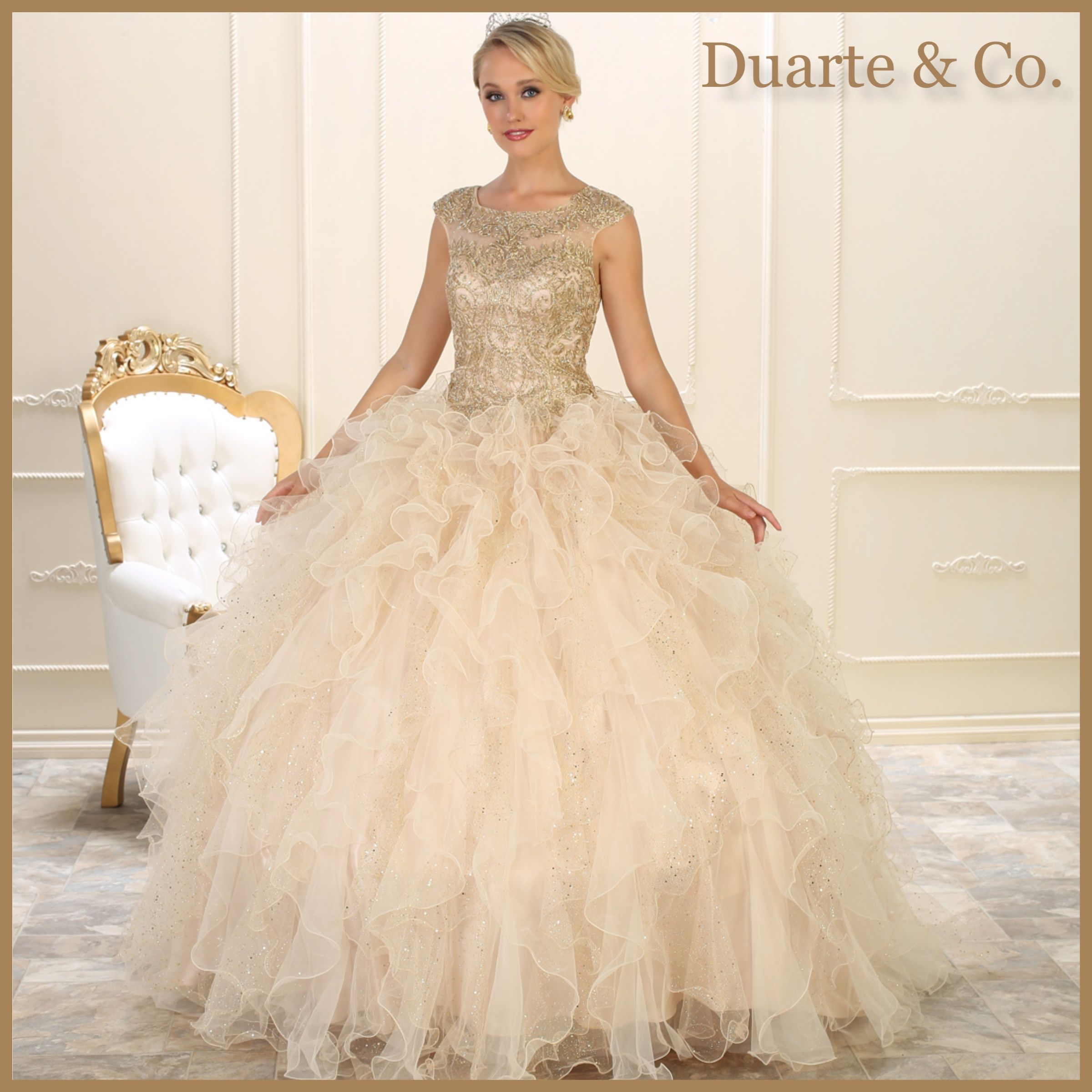 Lace Quinceanera/Sweet 16 Organza Ball Gown - LK104 | Sweet 16, Ball ...