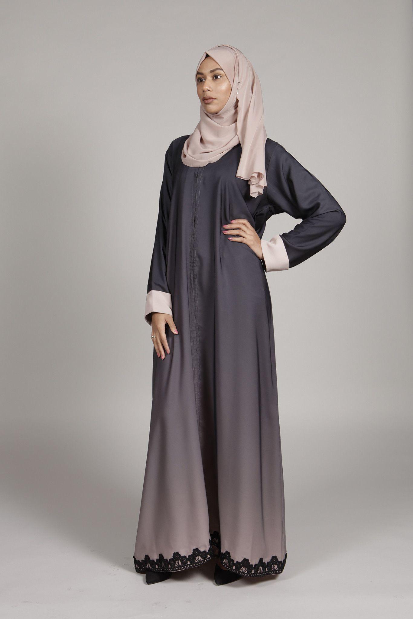 Abaya Ombre Fashion Vestido Trajes Fashion Hijab Nude Modest wIUdxSS