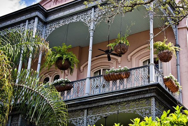Balcony, Historic Garden District Home, New Orleans