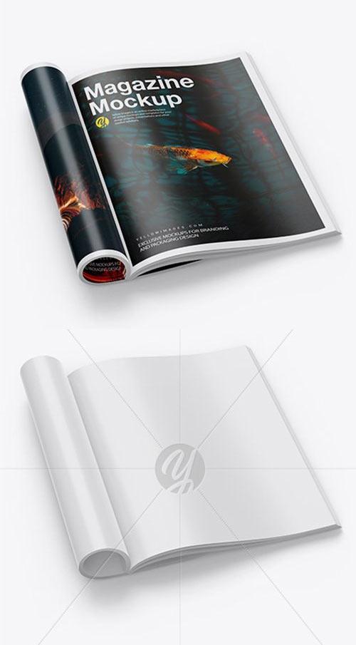 Glossy A4 Magazine Mockup 42466 Free Psd Templates Magazine Mockup Psd Template Free Mockup