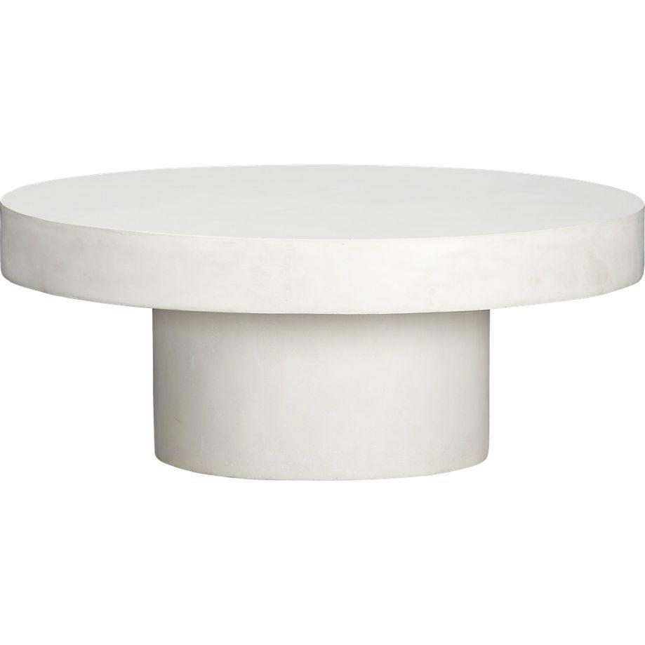 - Shroom Coffee Table CB2 Pedestal Coffee Table, Stone Coffee