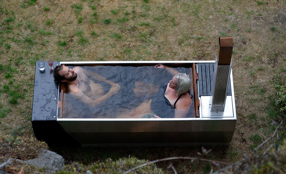 Outdoor Hot Tub For Two Tub Outdoor Moderntub Outdoor Inspiration Pint