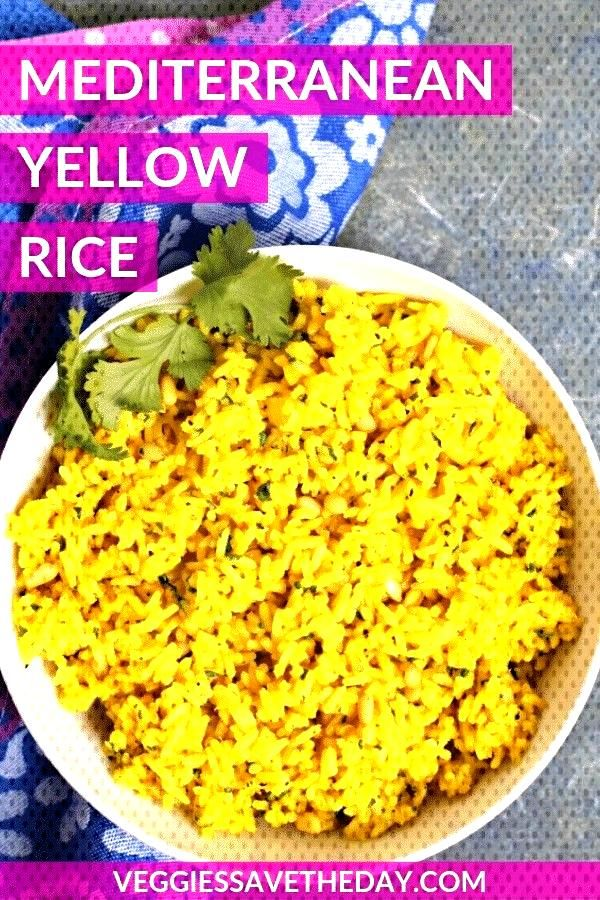 Yellow Rice is seasoned with garlic, cumin, and cilantro. Easy to make in 30 minutes, this turmeric