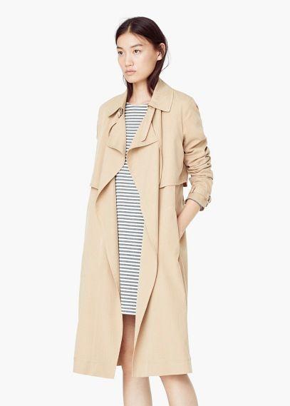 auténtico mejores ofertas en exuberante en diseño Trench fluido   MANGO   fashion   Traje de gabardina ...