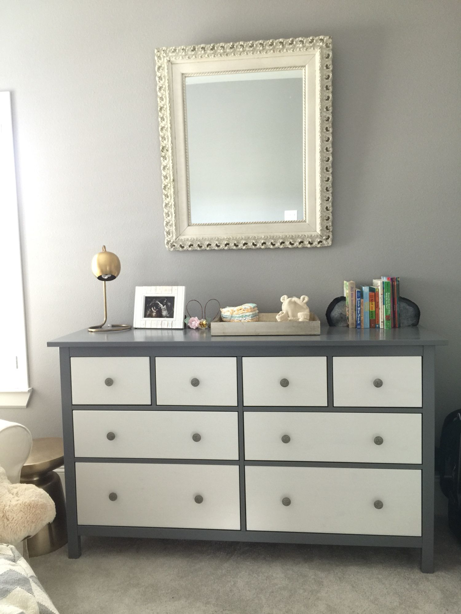 Ikea hack project with the all white hemnes dresser Best color to paint dresser