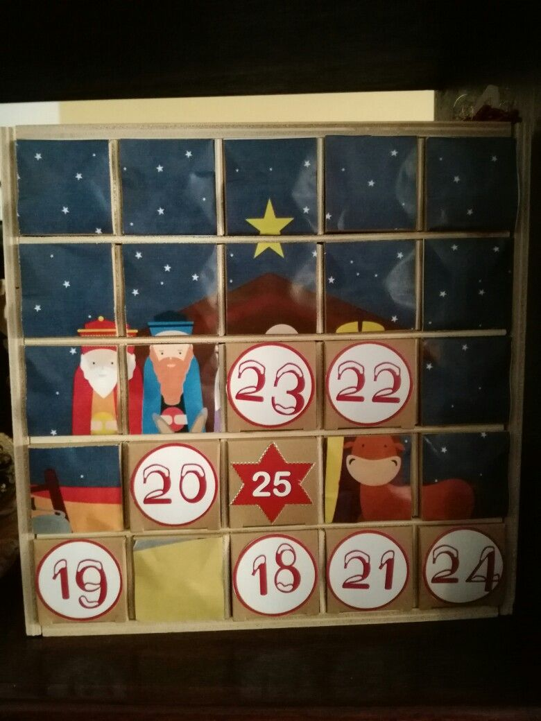 Calendario dell avvento 2016 calendario dell'avvento advent calendar