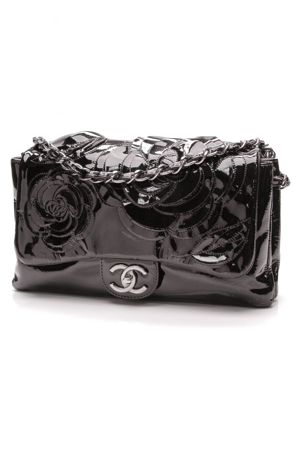 8c47660d9395 Camellia Accordion Flap Bag - Patent Leather in 2019 | It's Black ...