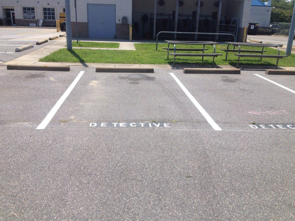 Complete Sealcoat & Striping Stripe, Parking lot, Completed
