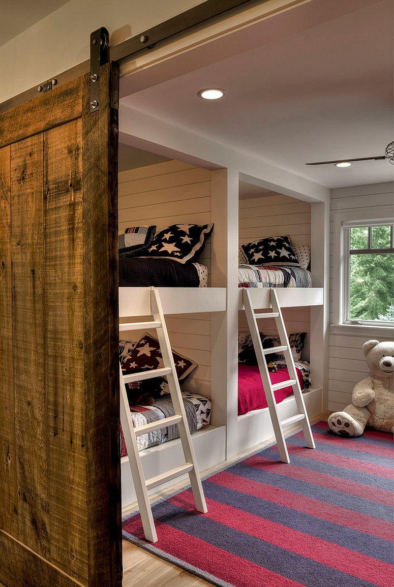 27 Creative Kids Rooms With Space Savvy Sliding Barn Doors Barn Door Furniture Kid Room Decor Cool Kids Bedrooms