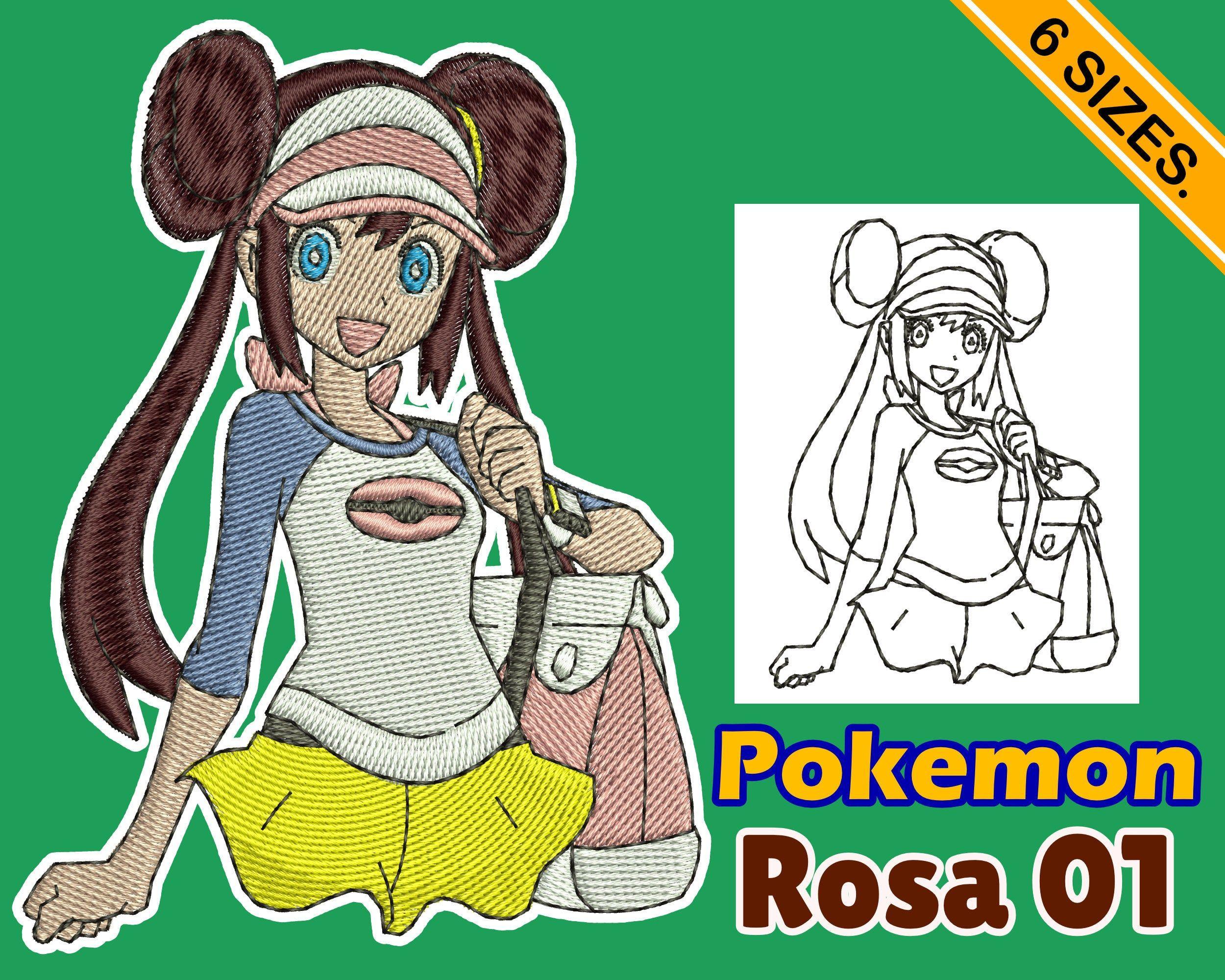 Embroidery design Pokemon Rosa 01 INSTANT download machine