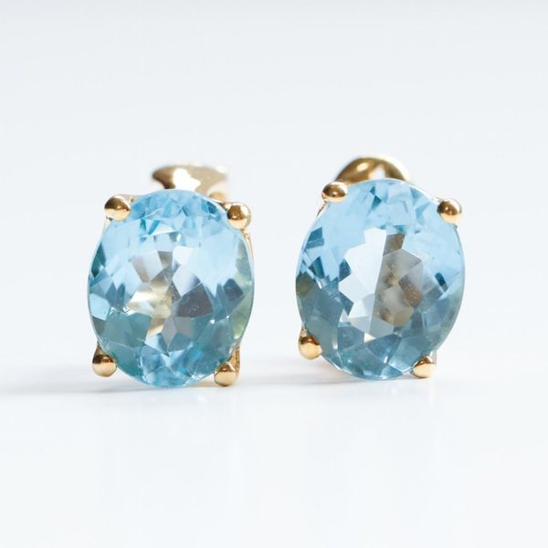 660489dcf H. Stern 18K Yellow Gold Blue Topaz Earrings #EBTH   J E W E L S ...