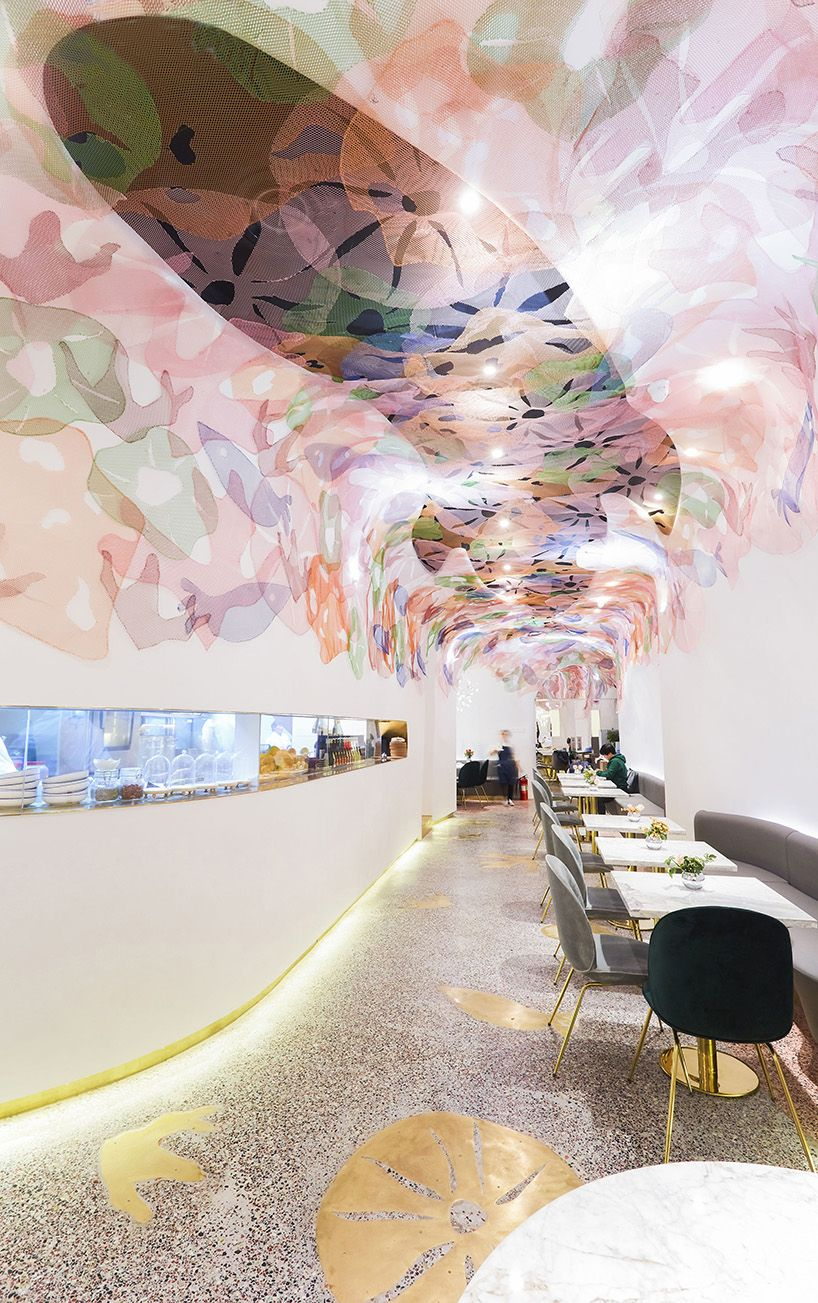 Soda Decorates A Restaurant In Beijing With Fairytale Undersea Patterns Restaurant Design Restaurant Interior Design Hospitality Design