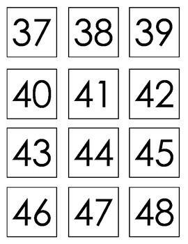 Free Number Cards Free Printable Numbers Number Flashcards Printable Flash Cards