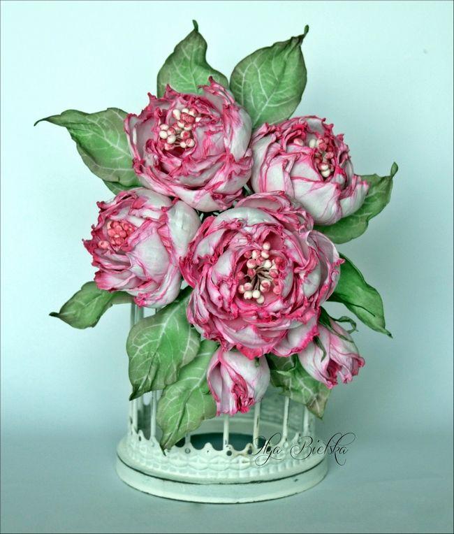 Kolejne Kwiaty Z Pianki Jedwabnej Foam Flowers Flower Making Flowers