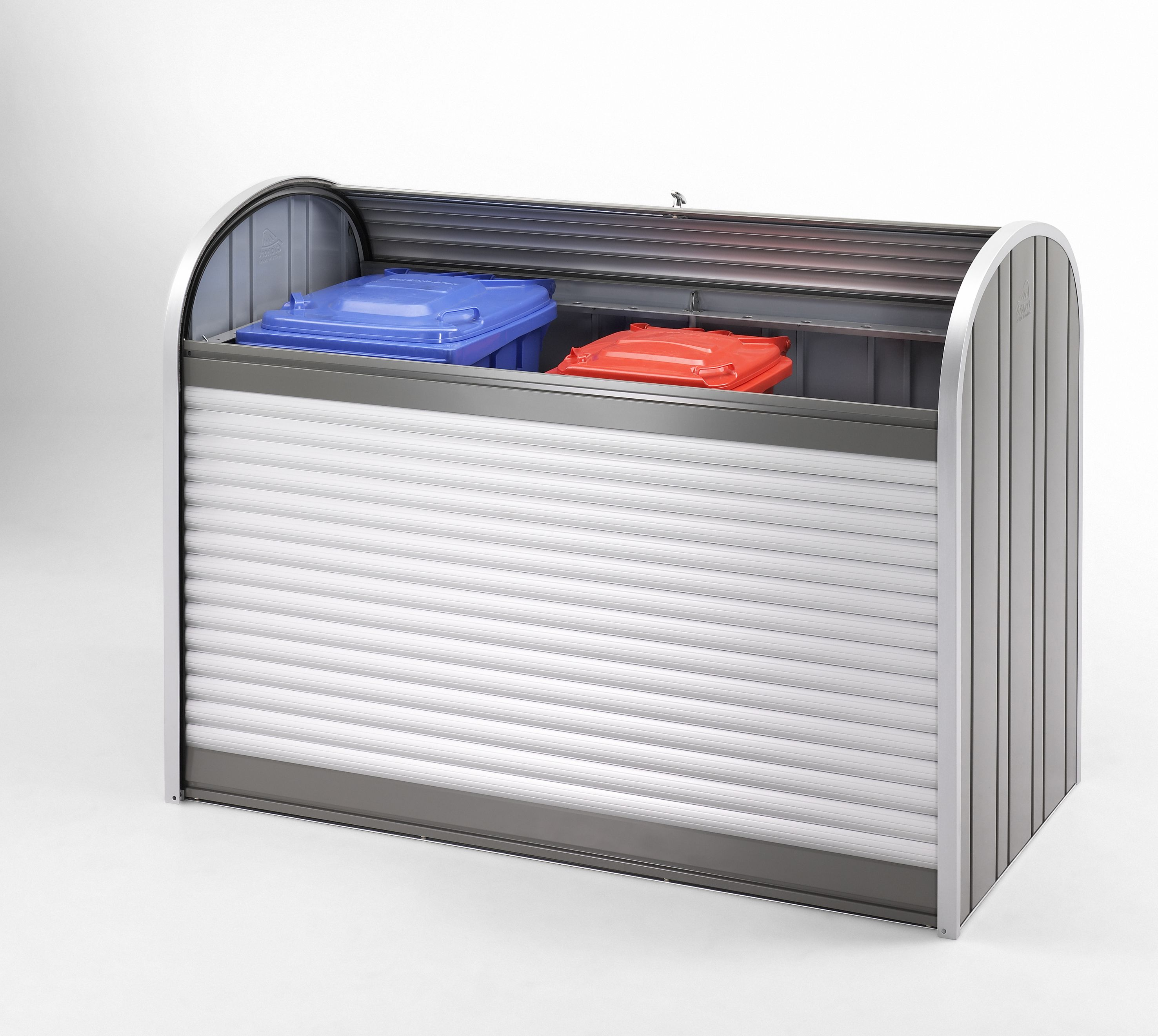 mülltonnenbox: im storemax 190 können 3 stk. 240l mülltonnen oder 3