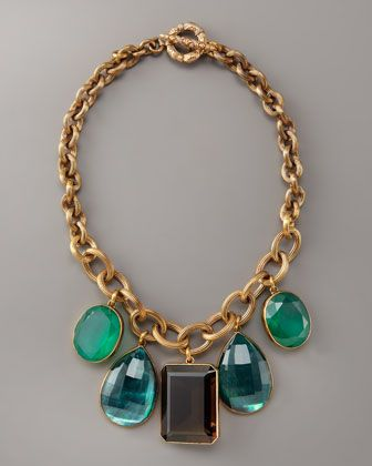 Stephen Dweck Gem Drop Necklace