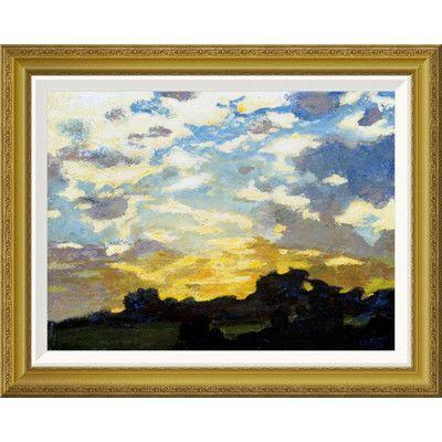 Global Gallery 'Golden Sunset' by Edward Henry Potthast Framed Painting Print Size: